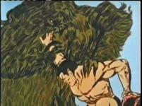 giant seaweed monster attacks